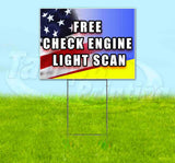 Free Check Engine Light Scan Yard Sign