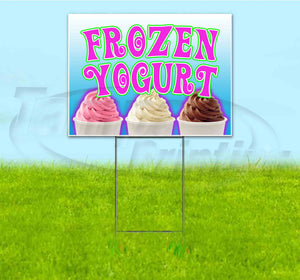 Frozen Yogurt Yard Sign