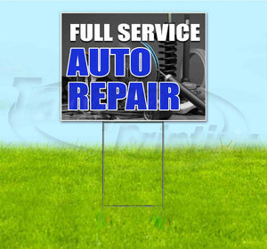 Full Service Auto Repair Yard Sign