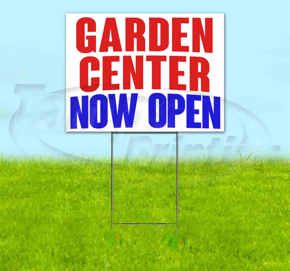 Garden Center Now Open Yard Sign