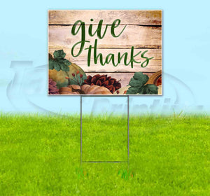 Give Thanks Yard Sign