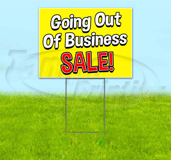 Going Out Of Business Sale Yard Sign