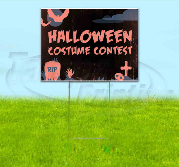 Halloween Costume Contest Yard Sign