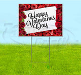 Happy Valentines Day Yard Sign