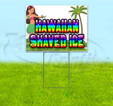 Hawaiian Shaved Ice Yard Sign