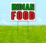 Indian Food Yard Sign