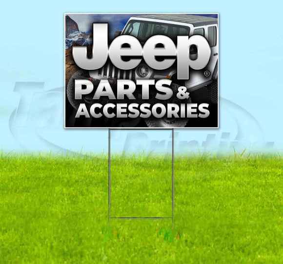 Jeep Parts & Accessories Yard Sign