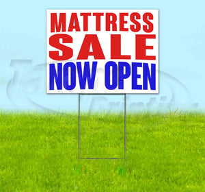 Mattress Sale Now Open Yard Sign