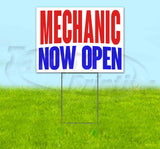 Mechanic Now Open Yard Sign