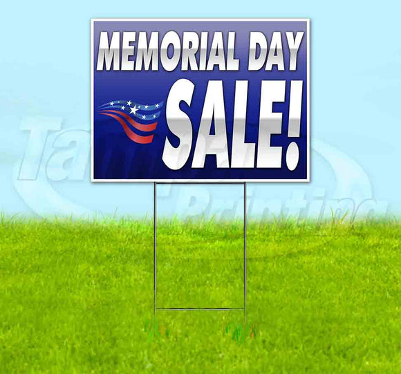 Memorial Day Sale Yard Sign