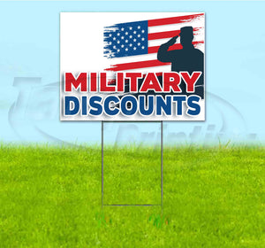 Military Discounts Yard Sign