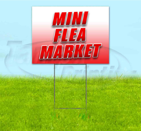 Mini Flea Market Yard Sign