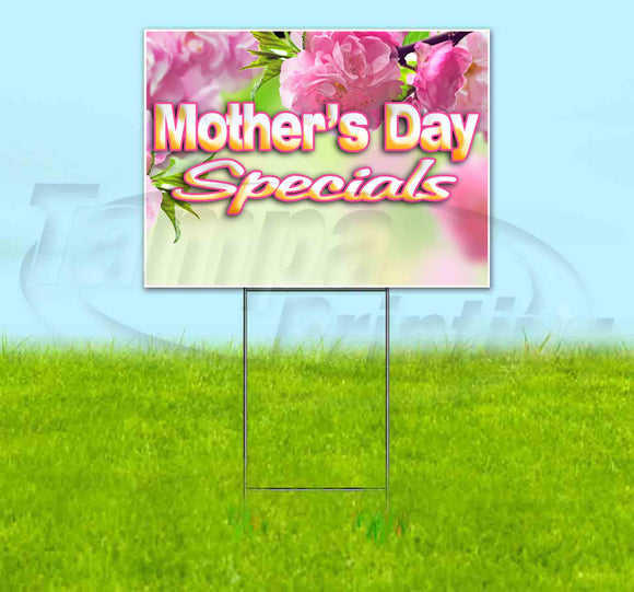 Mothers Day Specials Yard Sign