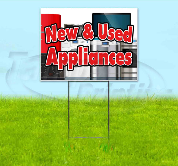 New And Used Appliances Yard Sign