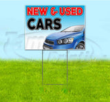 New And Used Cars Yard Sign