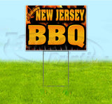 New Jersey BBQ Yard Sign