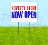 Novelty Store Now Open Yard Sign