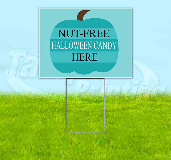 Nut-Free Halloween Candy Here Yard Sign