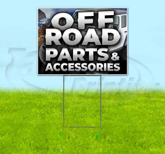 Off Road Parts & Accessories Jeep Yard Sign