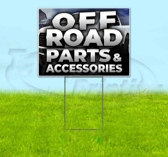 Off Road Parts & Accessories Truck Yard Sign