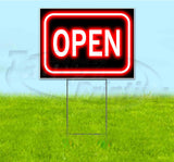Open Neon Yard Sign