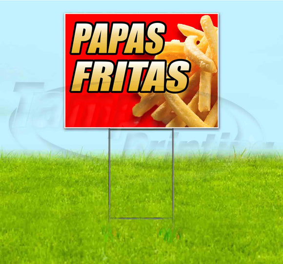 Papas Fritas Yard Sign