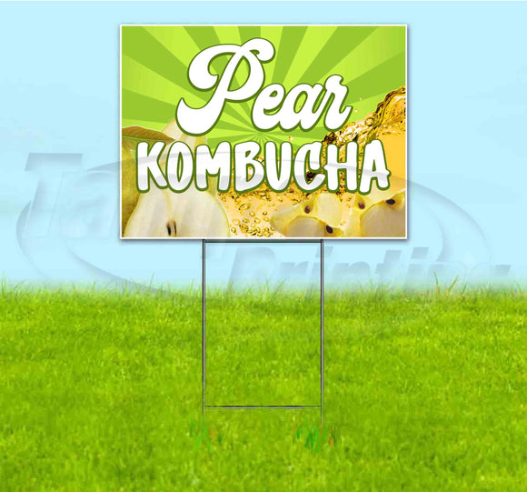 Pear Kombucha Yard Sign
