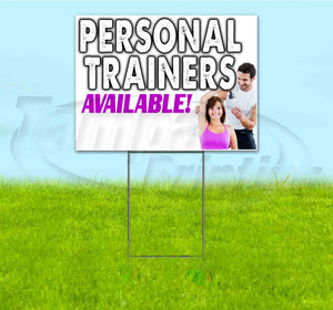 Personal Trainers Available Yard Sign