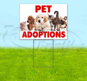 Pet Adoptions Yard Sign