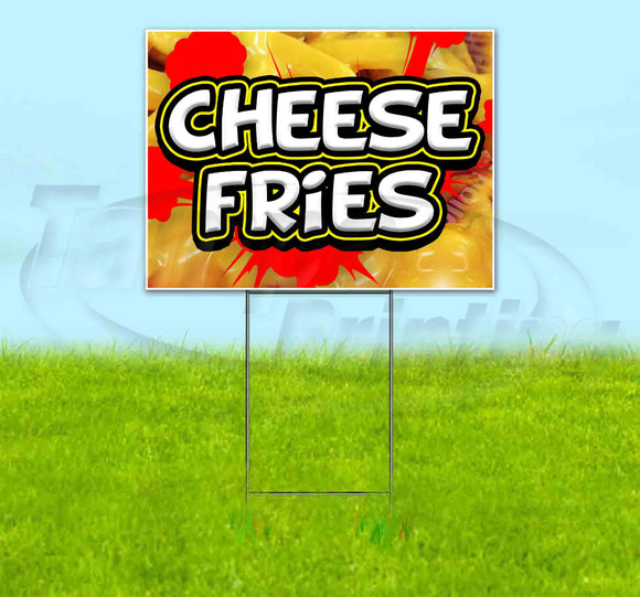 Cheese Fries Red Splat Yard Sign