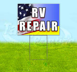 RV Repair Yard Sign
