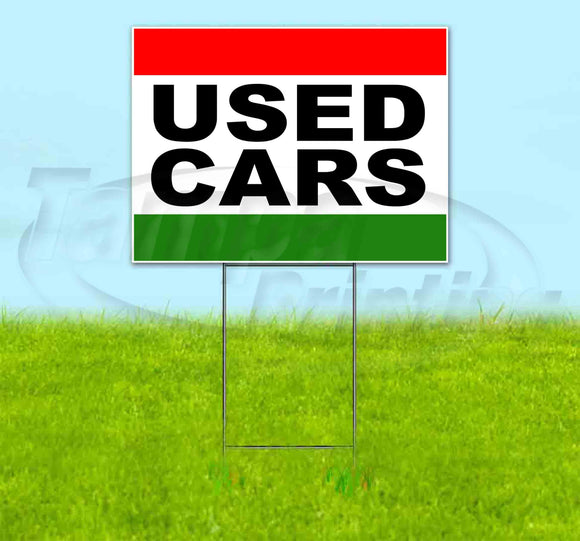 Used Cars Yard Sign