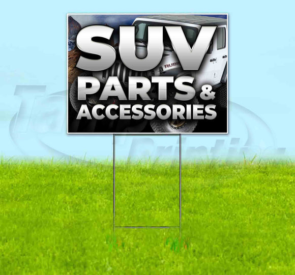 SUV Parts & Accessories Jeep Yard Sign
