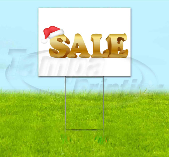 Sale Santa Hat Yard Sign
