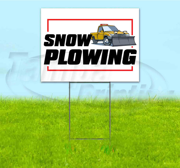 Snow Plowing Yard Sign