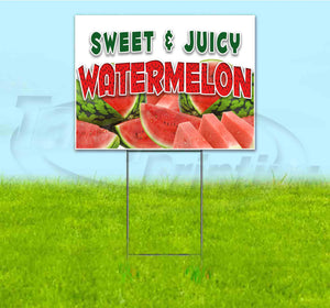 Sweet and Juicy Watermelon Yard Sign