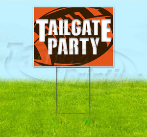 Tailgate Party Browns Yard Sign