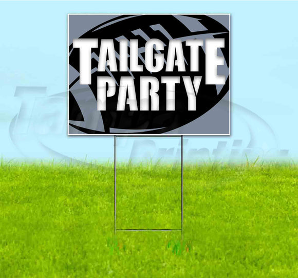 Tailgate Party Raiders Yard Sign