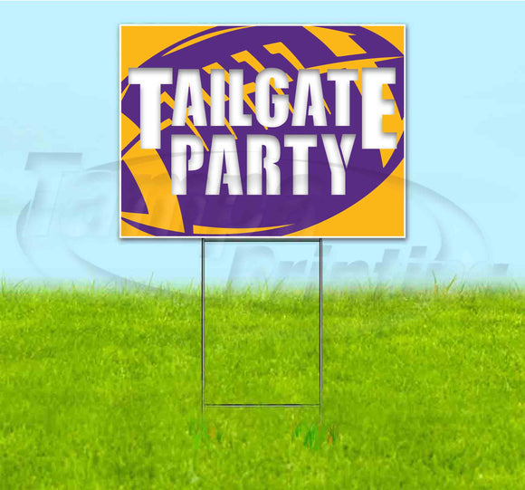 Tailgate Party Vikings Yard Sign
