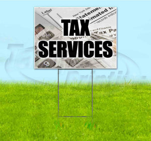 Tax Services Yard Sign