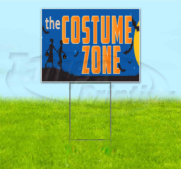 The Costume Zone Yard Sign