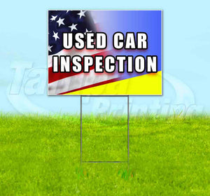 Used Car Inspection Yard Sign