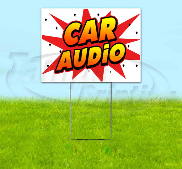 Car Audio Yard Sign