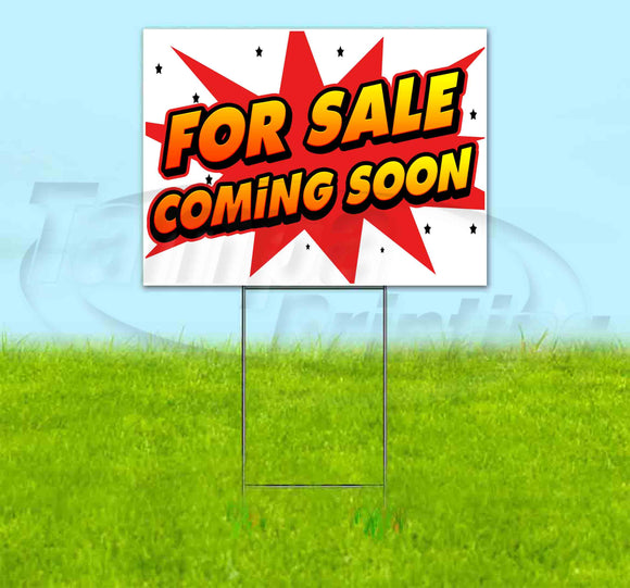 For Sale Coming Soon Yard Sign