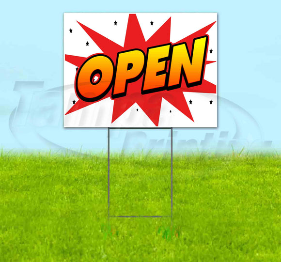 Open Yard Sign