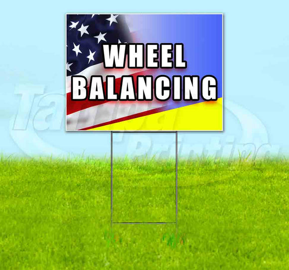 Wheel Balancing Yard Sign