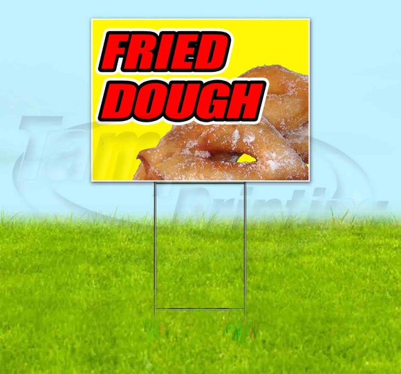 Fried Dough Yellow Background Yard Sign