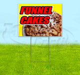 Funnel Cakes Yellow Background Yard Sign