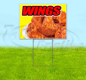 Wings Yellow Background Yard Sign