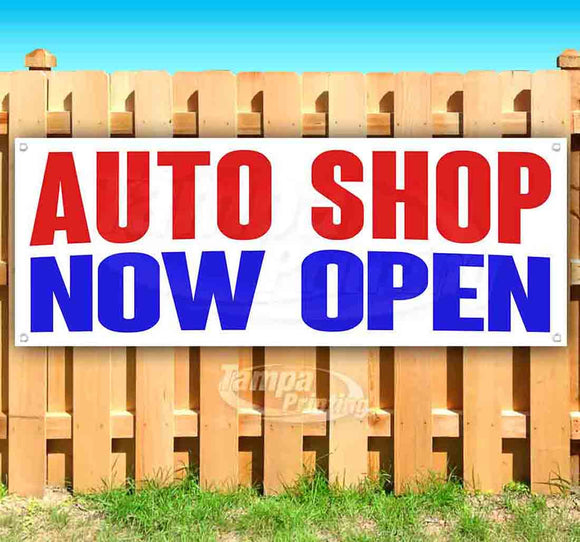 Auto Shop Now Open Banner